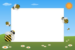 Kid frame - bees Royalty Free Stock Image