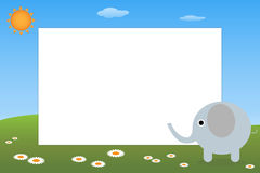 Kid frame - elephant Royalty Free Stock Images