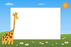 Kid frame - giraffe Royalty Free Stock Images