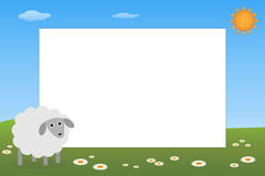 Kid frame - sheep royalty free stock image