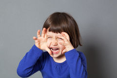 Kid fun monster concept for energetic preschool child Royalty Free Stock Photos