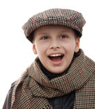 Kid fun scarf cap accessories portrait isolated Royalty Free Stock Image