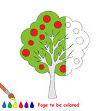 Kid game to be colored by example half. Royalty Free Stock Photography