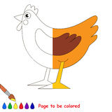 Kid game to be colored by example half. Royalty Free Stock Image