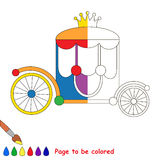 Kid game to be colored by example half. Royalty Free Stock Images