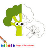 Kid game to be colored by example half. Funny Briccolies, the coloring book to educate preschool kids with easy gaming level, the kid educational game to color royalty free illustration