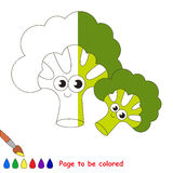 Kid game to be colored by example half. Funny Briccolies, the coloring book to educate preschool kids with easy gaming level, the kid educational game to color vector illustration