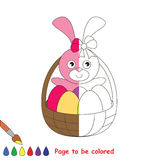 Kid game to be colored by example half. Stock Photography