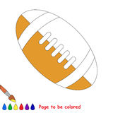 Kid game to be colored by example half. Soccer Ball, the coloring book to educate preschool kids with easy gaming level, the kid educational game to color the vector illustration