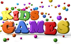 Kid Games. Games for kids abstract concept stock illustration