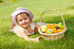 Kid in garden Royalty Free Stock Photography