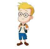 Kid genius. Vector and illustration Stock Photography