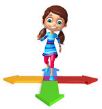 Kid girl with Arrow Royalty Free Stock Photo