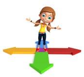 Kid girl with Arrow Stock Photos