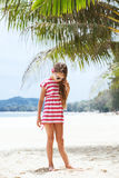 Kid girl on the beach Royalty Free Stock Photography