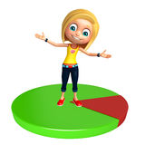 Kid girl with Circle Royalty Free Stock Images