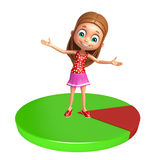 Kid girl with Circle Royalty Free Stock Photography