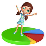Kid girl with Circle Royalty Free Stock Photo
