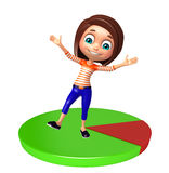 Kid girl with Circle Stock Image