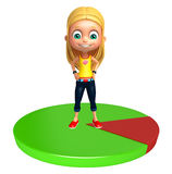 Kid girl with Circle Stock Images