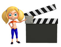 Kid girl with Clapper board Stock Image