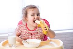 Kid girl eating healthy food Royalty Free Stock Photo