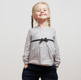 Kid girl fashion isolated portrait stock photography