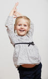 Kid girl fashion isolated portrait Stock Images