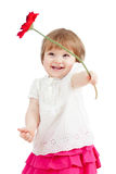 kid girl with flower Royalty Free Stock Photo