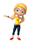 Kid girl with Hold pose Royalty Free Stock Photo