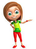 Kid girl with Hold pose Royalty Free Stock Photography
