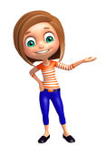 Kid girl with Hold pose Stock Photo