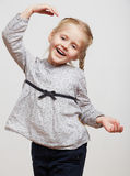 Kid girl isolated Stock Images