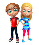 Kid girl and kid boy Royalty Free Stock Images