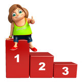 Kid girl with 123 Level Stock Image