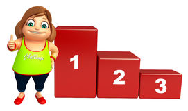 Kid girl with levels. 3d rendered illustration of Kid girl with levels Royalty Free Stock Photo