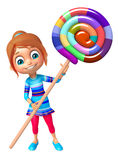 Kid girl with lollipop Royalty Free Stock Photo