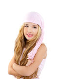 Kid girl with pirate handkerchief Stock Photography