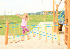 Kid - girl on playground Royalty Free Stock Photography