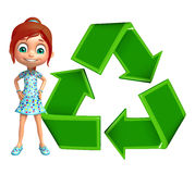 Kid girl with Recycle Stock Images