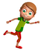 Kid girl with Running pose. 3d rendered illustration of Kid girl with Running pose Royalty Free Stock Photo