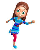 Kid girl with Running pose. 3d rendered illustration of Kid girl with Running pose Stock Photos