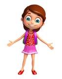 Kid girl with School bag Stock Image