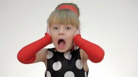 Kid girl screams