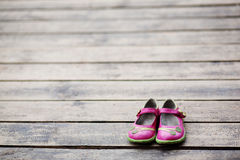 Kid girl shoes Royalty Free Stock Photos