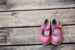 Kid girl shoes Royalty Free Stock Photo
