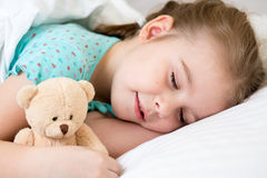 Kid girl sleeping Stock Photos