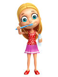 Kid girl with Tooth brush and paste Royalty Free Stock Photography
