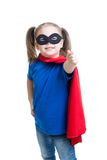Kid girl weared superhero costume Royalty Free Stock Images