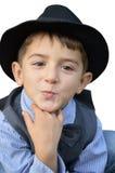 Kid gives a kiss Royalty Free Stock Image